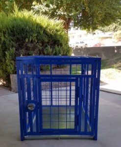 heavy duty dog crate blue