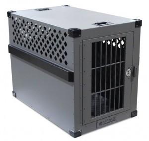 extra extra large stationary aluminum heavy duty dog crate gray